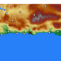 Nearby Forecast Locations - Μοτρίλ - Χάρτης
