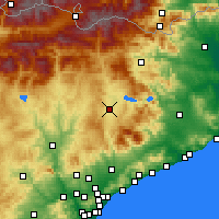Nearby Forecast Locations - Μπικ - Χάρτης