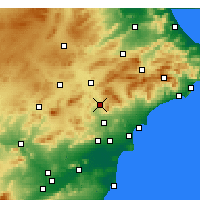 Nearby Forecast Locations - Elda - Χάρτης