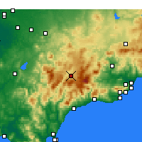 Nearby Forecast Locations - Ronda - Χάρτης
