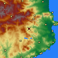 Nearby Forecast Locations - Olot - Χάρτης