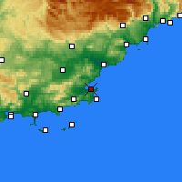 Nearby Forecast Locations - Σαιν-Τροπέ - Χάρτης