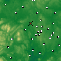 Nearby Forecast Locations - Telford - Χάρτης