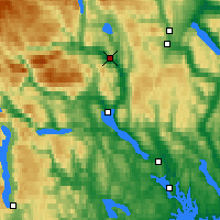 Nearby Forecast Locations - Notodden - Χάρτης
