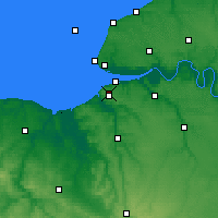 Nearby Forecast Locations - Deauville - Χάρτης