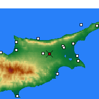 Nearby Forecast Locations - Ercan International Airport - Χάρτης