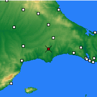 Nearby Forecast Locations - Τσόρλου - Χάρτης