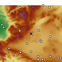 Nearby Forecast Locations - Mojave - Χάρτης