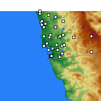 Nearby Forecast Locations - Imperial Beach - Χάρτης