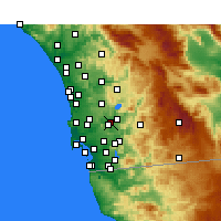 Nearby Forecast Locations - San Diego/Gil. - Χάρτης