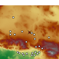 Nearby Forecast Locations - Adelanto - Χάρτης