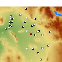 Nearby Forecast Locations - Chandler - Χάρτης