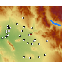 Nearby Forecast Locations - Μέσα - Χάρτης