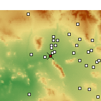 Nearby Forecast Locations - Goodyear - Χάρτης
