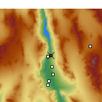 Nearby Forecast Locations - Bullhead City - Χάρτης