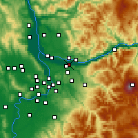 Nearby Forecast Locations - Troutdale - Χάρτης