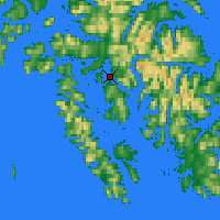 Nearby Forecast Locations - Hydaburg - Χάρτης