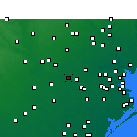 Nearby Forecast Locations - Sugar Land - Χάρτης