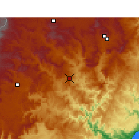 Nearby Forecast Locations - Mount frere - Χάρτης