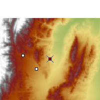 Nearby Forecast Locations - San Pedro de Jujuy - Χάρτης