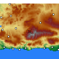 Nearby Forecast Locations - Pradollano - Χάρτης