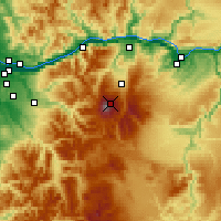 Nearby Forecast Locations - Mount Hood - Χάρτης