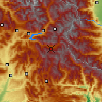 Nearby Forecast Locations - Valle de l'Ubaye - Χάρτης