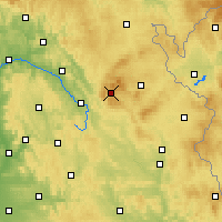 Nearby Forecast Locations - Warmensteinach - Χάρτης