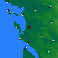 Nearby Forecast Locations - Rochefort - Χάρτης