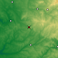 Nearby Forecast Locations - Nontron - Χάρτης