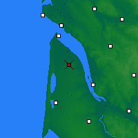 Nearby Forecast Locations - Lesparre-Médoc - Χάρτης