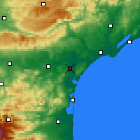 Nearby Forecast Locations - Narbonne - Χάρτης