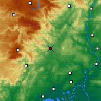 Nearby Forecast Locations - Alès - Χάρτης