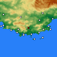 Nearby Forecast Locations - Cuers - Χάρτης