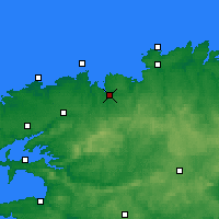 Nearby Forecast Locations - Morlaix - Χάρτης