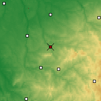 Nearby Forecast Locations - Bellac - Χάρτης
