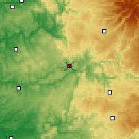Nearby Forecast Locations - Figeac - Χάρτης