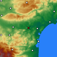 Nearby Forecast Locations - Lézignan-Corbières - Χάρτης