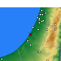 Nearby Forecast Locations - Ashkelon - Χάρτης