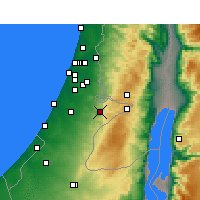 Nearby Forecast Locations - Beit Shemesh - Χάρτης