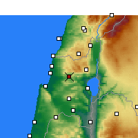Nearby Forecast Locations - Karmiel - Χάρτης