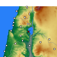 Nearby Forecast Locations - Τιβεριάδα - Χάρτης