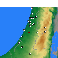 Nearby Forecast Locations - Kfar HaRif - Χάρτης