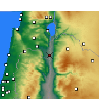 Nearby Forecast Locations - Kfar Ruppin - Χάρτης
