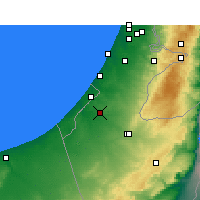 Nearby Forecast Locations - Netivot - Χάρτης