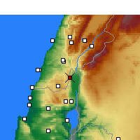 Nearby Forecast Locations - Kiryat Shmona - Χάρτης