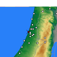 Nearby Forecast Locations - Bat Yam - Χάρτης