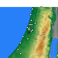 Nearby Forecast Locations - Rehovot - Χάρτης