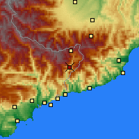 Nearby Forecast Locations - Fontan - Χάρτης