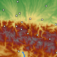 Nearby Forecast Locations - Aspin-Aure - Χάρτης